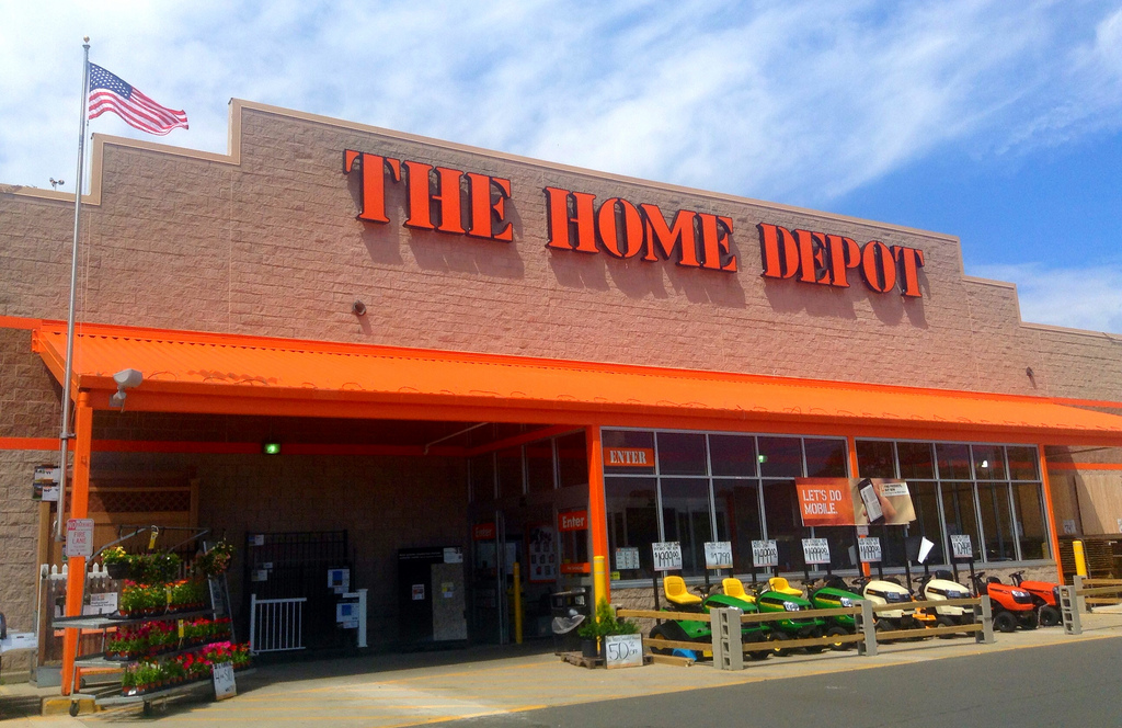 "alt=""A picture of an outside view of a Home Depot Store. """